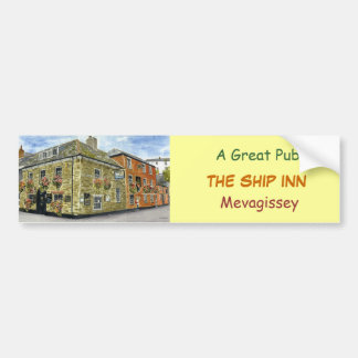 'Ship Inn (Mevagissey)' Bumper Sticker Car Bumper Sticker