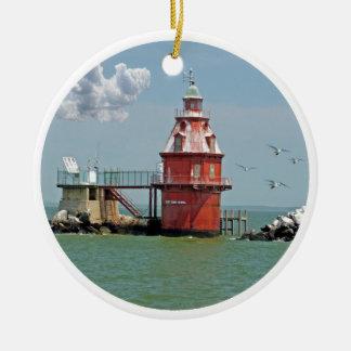 Ship John Shoal Lighthouse Christmas Ornament
