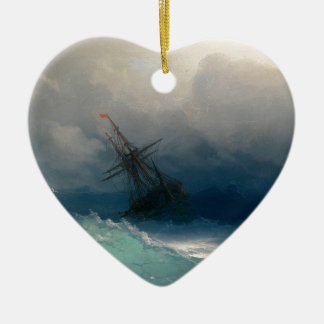Ship on Stormy Seas, Ivan Aivazovsky - Christmas Ornament