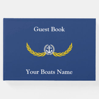 Ship, sailing yacht or motor boats guest book