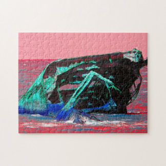 Shipwreck Abstract Pink Jigsaw Puzzle