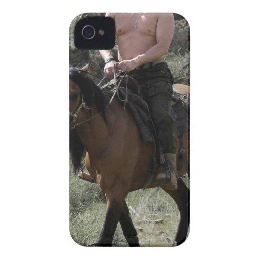 Shirtless Putin Rides a Horse iPhone 4 Cover