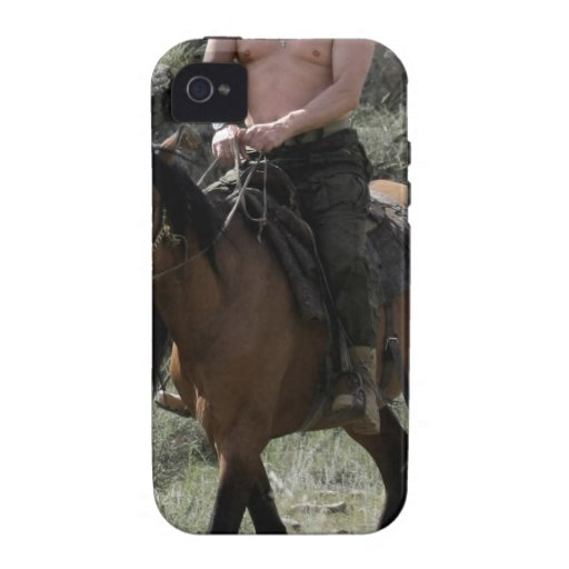 Shirtless Putin Rides a Horse Vibe iPhone 4 Cover