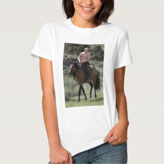 Shirtless Putin Rides a Horse T Shirts