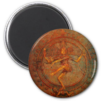 Shiva On Distressed Background Overlay Magnet