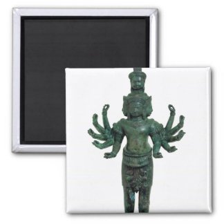 Shiva with many arms and heads, Angkor Magnet
