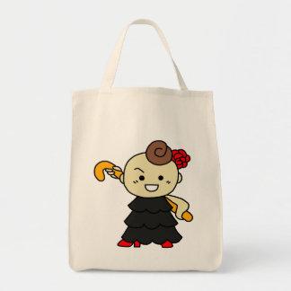 shiyotsupingutoto stick child black tote bag