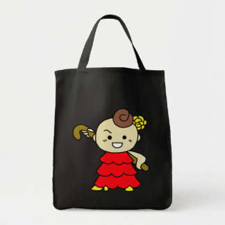 shiyotsupingutoto stick child red tote bag