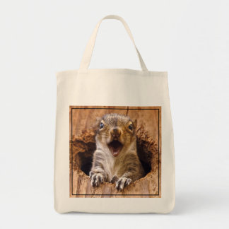 Shocked Squirrel Tote Bag