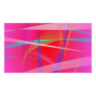 Shocking Pink Abstract Art Business Card Template