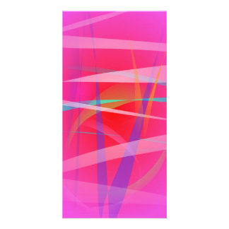 Shocking Pink Abstract Art Photo Cards