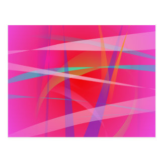 Shocking Pink Abstract Art Post Card