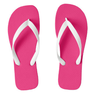 Shocking Pink Solid Colour Customise It Thongs