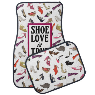 Shoe Love is True Love car mats