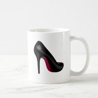shoe magenta coffee mug