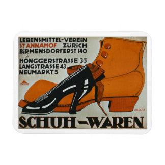 'Shoe Shops', Zurich (colour litho) Magnet
