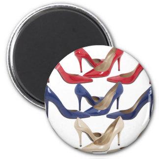 shoes2 6 cm round magnet