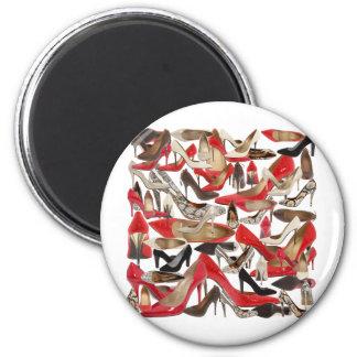 shoes 6 cm round magnet