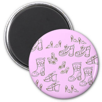 Shoes and Boots 6 Cm Round Magnet