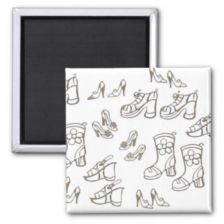 Shoes and Boots Square Magnet