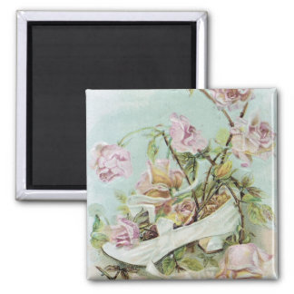 shoes and flowers vintage fridge magnet