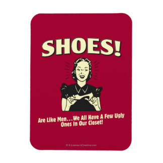 Shoes: Are Like Men Rectangular Photo Magnet