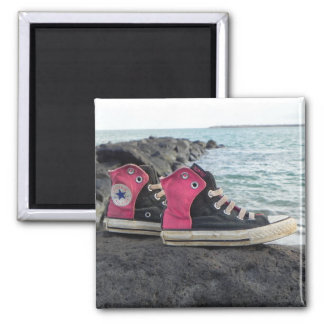 Shoes on the Beach Fridge Magnet