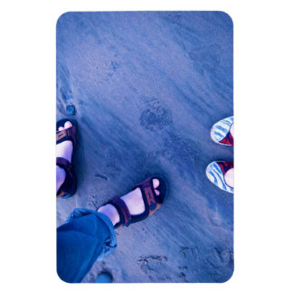 Shoes on the beach rectangular photo magnet