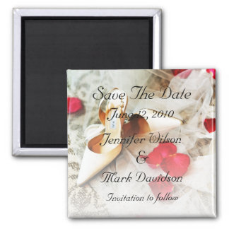 Shoes & Roses Save The Date Magnet