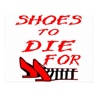 Shoes To Die For Post Card