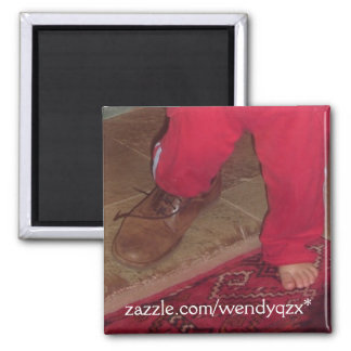 Shoes to Fill Square Magnet