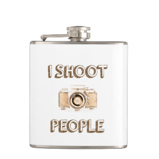 shoot people funny text photo camera photographer hip flask