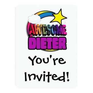 Shooting Star Rainbow Awesome Dieter 14 Cm X 19 Cm Invitation Card