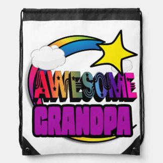 Shooting Star Rainbow Awesome Grandpa Cinch Bag
