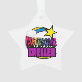 Shooting Star Rainbow Awesome Speller Ornament
