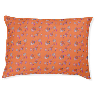 Shooting Stars and Comets Orange Dog Bed