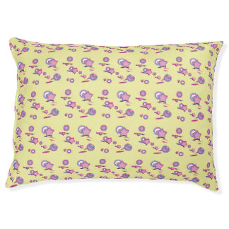 Shooting Stars and Comets Pastel Yellow Dog Bed