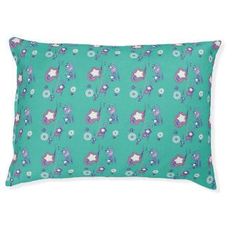Shooting Stars and Comets Turquoise Dog Bed