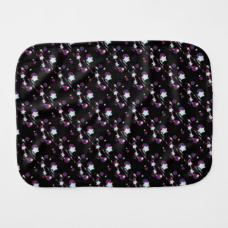 Shooting Stars & Comets Black Burp Cloth for Baby