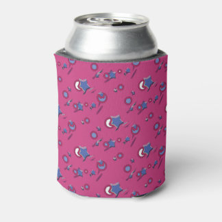 Shooting Stars & Comets Hot Pink Beer Sleeve Can Cooler