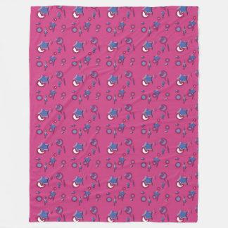 Shooting Stars Comets Hot Pink Fleece Blanket