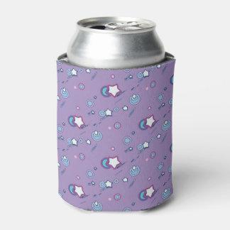 Shooting Stars & Comets Pastel Purple Beer Sleeve Can Cooler