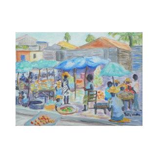 SHOPPING IN HAITI Canvas Print