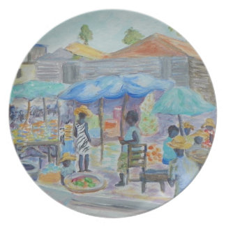 SHOPPING IN HAITI Plate