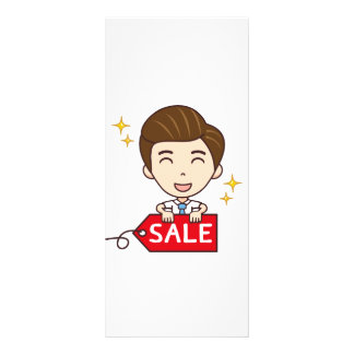 Shopping Sale mascot Full Color Rack Card