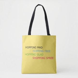 Shopping Spree Yellow Tote Bag