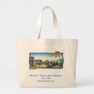 Shopping Tote~Mural #1:  Hermosa Beach Pier Plaza Large Tote Bag