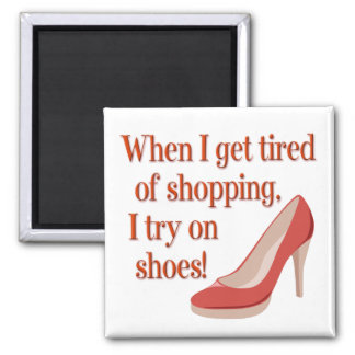 Shops for Shoes Square Magnet