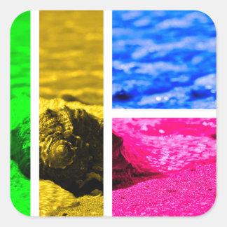 Shore Square Sticker