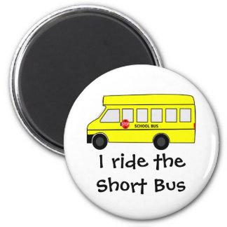Short Bus 6 Cm Round Magnet